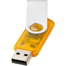 USB disk Rotate-translucent, 4 GB, oranžová