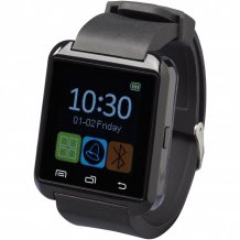 Bluetooth® chytré hodinky Brains s dotykovým LCD displejem, černá