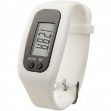 Chytré hodinky s krokoměrem Get-Fit, bílá