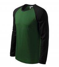 Street LS triko pánské, lahvově zelená