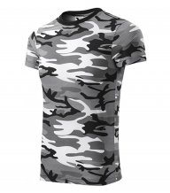 Camouflage tričko unisex, camouflage gray