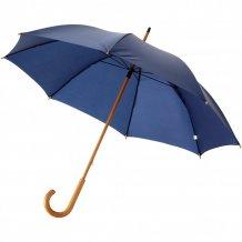 """23"""" klasický deštník Jova s dřevěnou tyčí a rukojetí, modrá"""