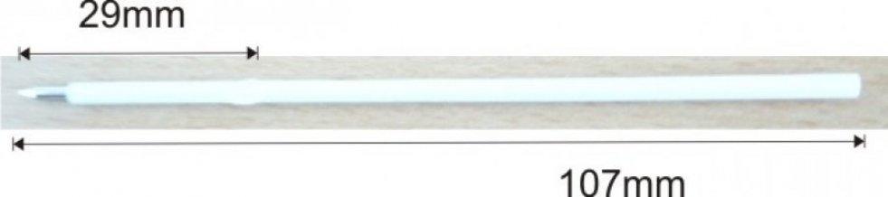 Náplň X20, 107mm bílá - 0,7mm, modrá