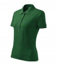Cotton polokošile dámská, lahvově zelená