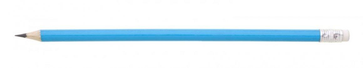 Tužka s gumou hrocená LUNGO, modrá světlá