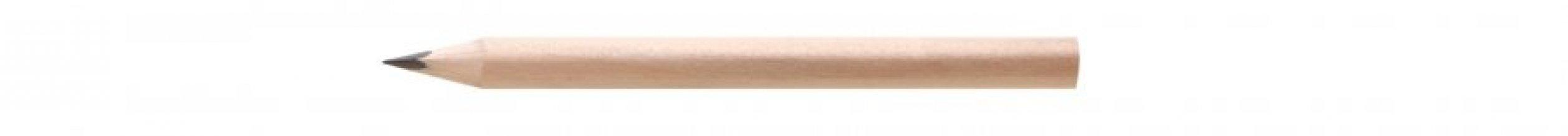 Tužka krátká, trojhranná TRIA S, natur