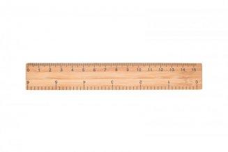 Pravítko 15 cm, bambus RIGHE, natur