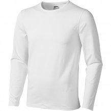 Pánské triko Curve s dlouhým rukávem, bílá