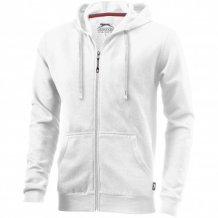 Ikina Open s kapucí, zip v celé délce, bílá