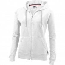 Dámská mikina Open s kapucí, zip v celé délce, bílá