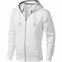 Ikina Arora s kapucí, zip v celé délce, bílá