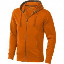 Ikina Arora s kapucí, zip v celé délce, oranžová