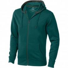 Mikina Arora s kapucí, zip v celé délce, zelená