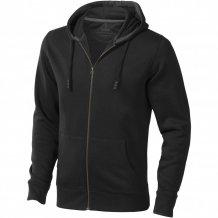 Ikina Arora s kapucí, zip v celé délce, černá