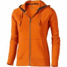 Dámská mikina Arora s kapucí, zip v celé délce, oranžová