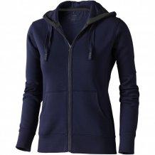 Dámská mikina Arora s kapucí, zip v celé délce, modrá
