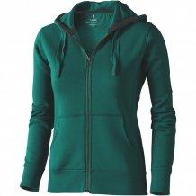 Dámská mikina Arora s kapucí, zip v celé délce, zelená