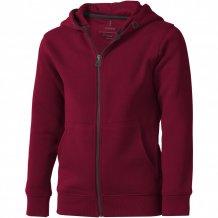 Arora celopropínací svetr na zip s kapucí pro děti, červená