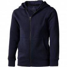 Arora celopropínací svetr na zip s kapucí pro děti, modrá