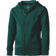Arora celopropínací svetr na zip s kapucí pro děti, zelená