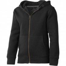 Arora celopropínací svetr na zip s kapucí pro děti, černá
