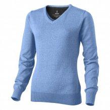Dámský svetr Spruce s véčkovým výstřihem, modrá