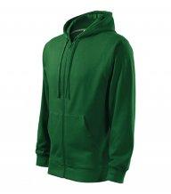 Trendy Zipper mikina pánská, lahvově zelená