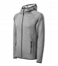 Direct stretch fleece pánský, tmavě šedý melír