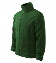 Jacket fleece pánský, lahvově zelená