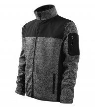Casual softshellová bunda pánská, knit gray