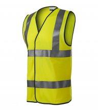 HV Bright bezpečnostní vesta unisex, reflexní žlutá