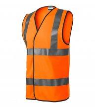 HV Bright bezpečnostní vesta unisex, reflexní oranžová