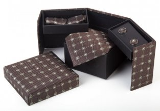 """Clergoux"" kravata, hnědá"