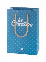 """""""CreaShop S"""" malá papírová nákupní taška na zakázku, vícebarevná"""