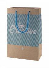 """""""CreaShop M"""" střední papírová nákupní taška na zakázku, vícebarevná"""