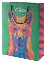 """""""CreaShop L"""" velká papírová nákupní taška na zakázku, vícebarevná"""