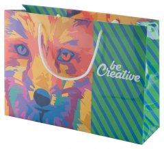 """""""CreaShop H"""" horizontální papírová nákupní taška na zakázku, vícebarevná"""