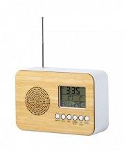 """""""Tulax"""" stolní rádio s hodinami, přírodní"""
