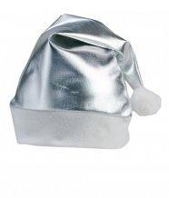 """""""Shiny"""" santa čepice, stříbrná, stříbrná"""