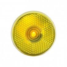 """""""Flash"""" reflexní svítilna s klipem, žlutá"""