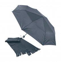 """""""Bitem"""" sada deštníku a šály, černá"""