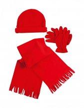 """""""Estepa"""" zimní set, červená"""