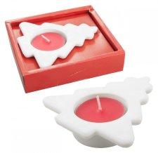 """""""Urin"""" svícen se svíčkou, červená"""