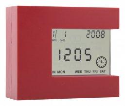"""""""Nester"""" multifunkční stolní hodiny, červená"""