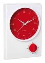"""""""Tekel"""" stolní hodiny, červená"""