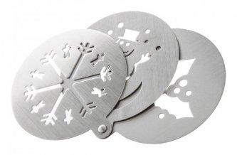 """""""Pressox"""" šablona na cappucino, stříbrná"""