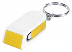 """""""Satari"""" stojánek na mobil s přívěškem na klíče, bílá"""