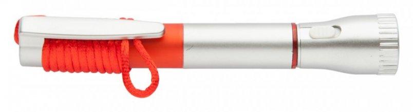 """""""Mustap"""" pero se svítilnou, červená"""