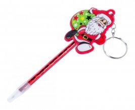 """""""Zarki"""" kuličkové pero s přívěškem na klíče, červená"""