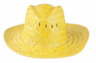 """""""Splash"""" slaměný klobouk, žlutá"""
